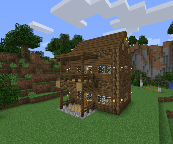 Super Simple Survival Log Cabin