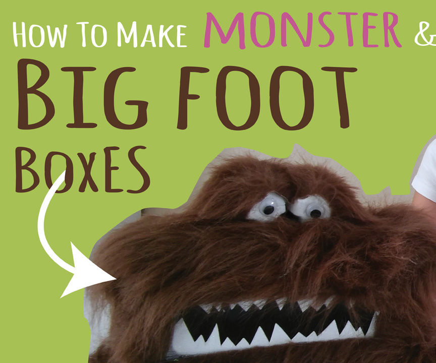 Big Foot Box & Monster Box - Halloween Kids Craft