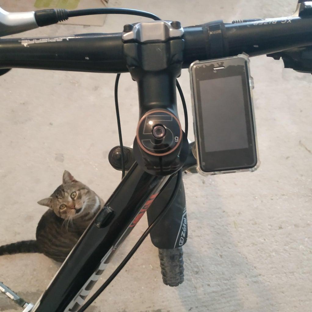 Hook the Support on the Bike Handlebar