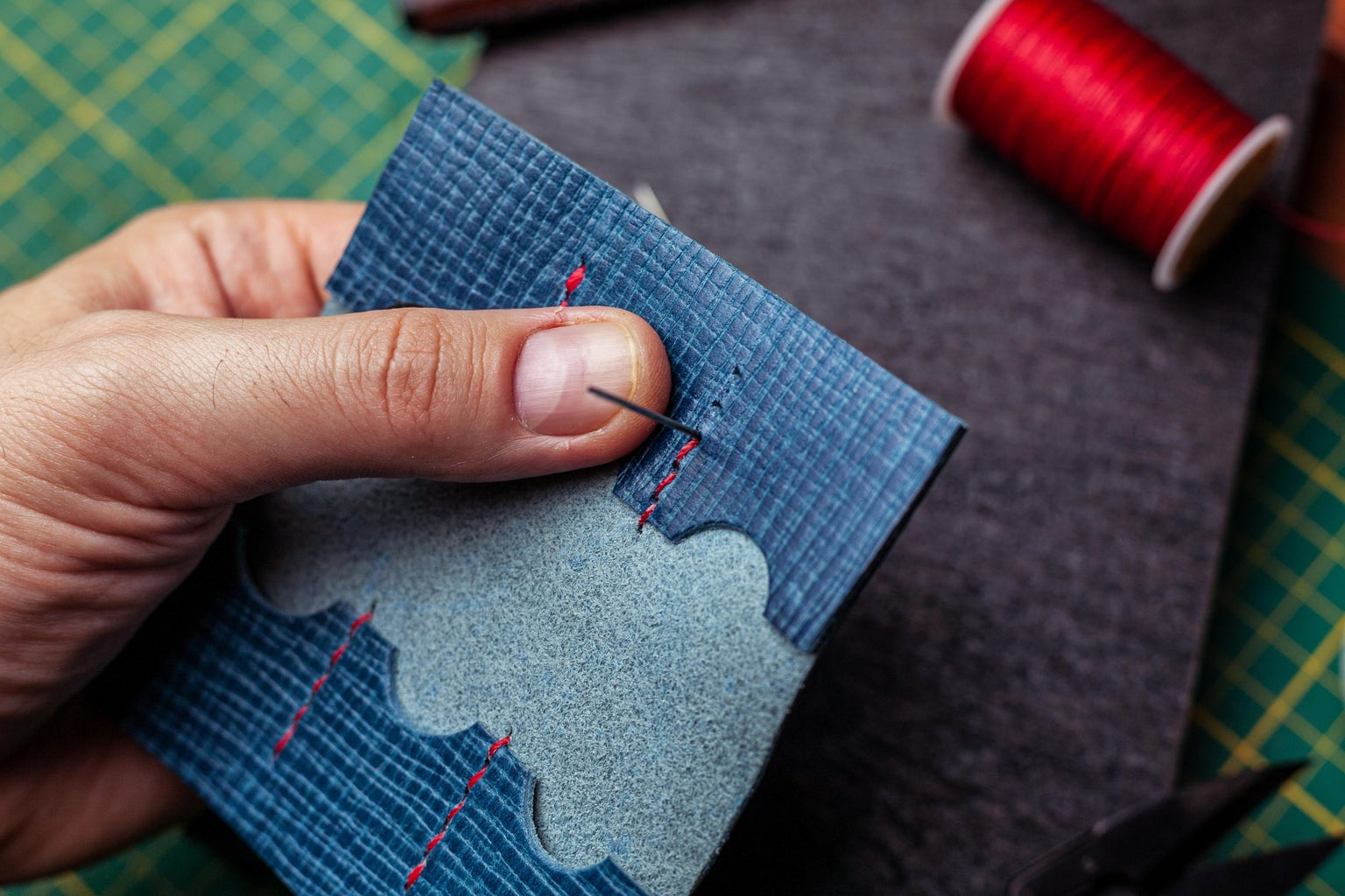 Punching Holes and Sewing