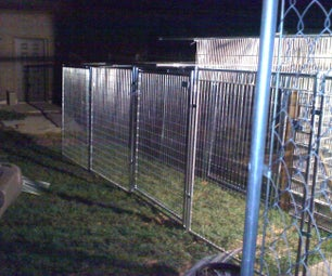 Inescapable DOG, CAT, Human Walk to Connecting Building, (Kennel Panels) Covered and Sheltered From the Elements