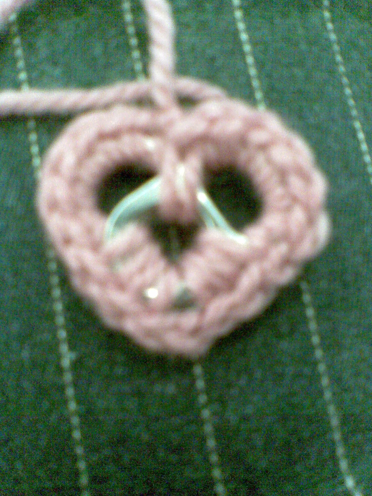 Hearts from ring pulls.