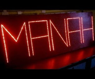 Your Name LED Flashing Board
