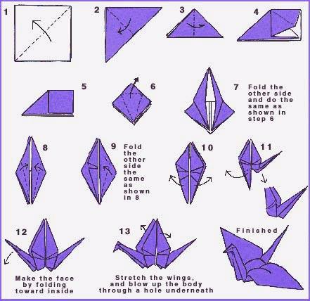 How to make a Paper Crane!!!