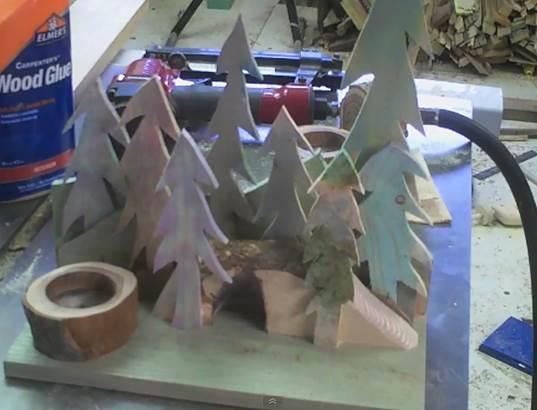 Simple Votive Candle Christmas Decoration