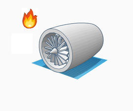 Using TinkerCAD to a Make a Jet Engine ! (make It Move)