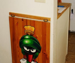Marvin the Martian Painting and Drop Leaf Table All in One