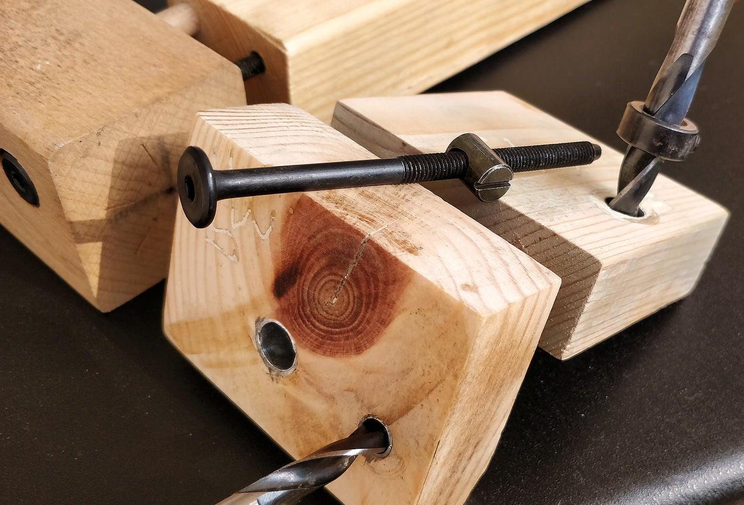 2 in 1 Cross Dowel | Barrel Nut Jig for Detachable Wooden Furniture Joints DIY