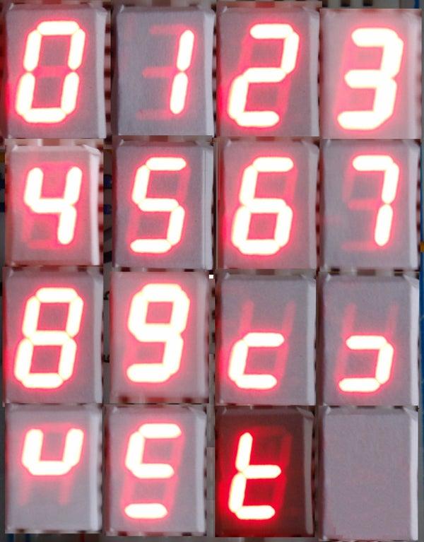 Arduino and 7 Segment LED Display Decoder