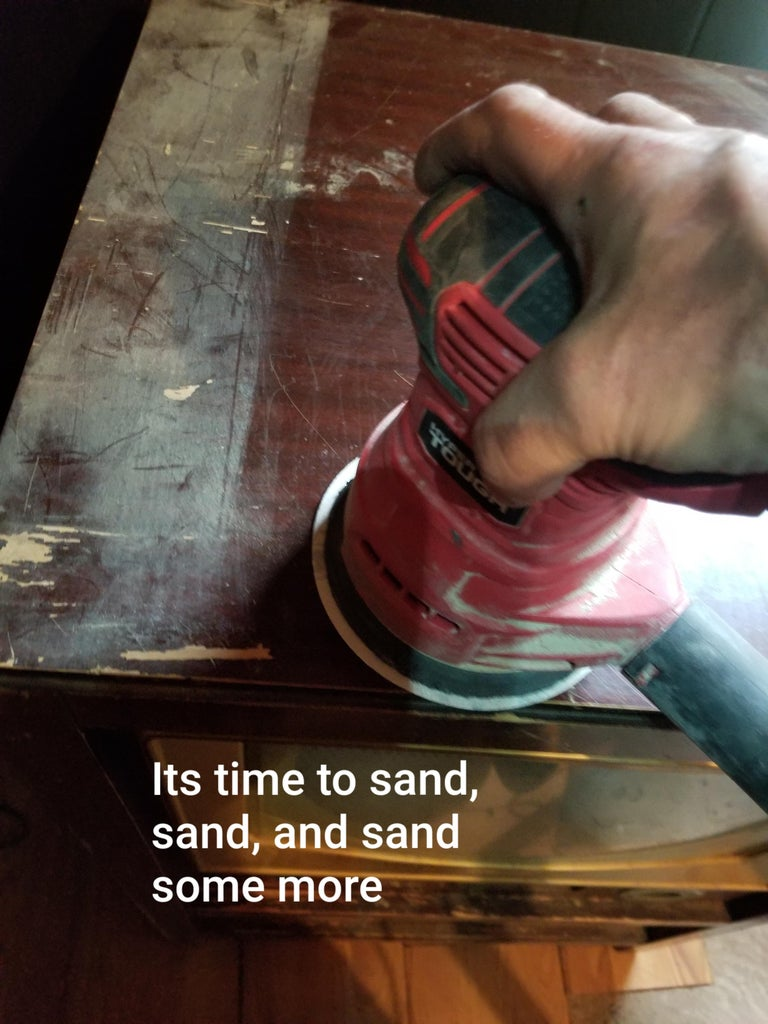 Time to Sand and Stain