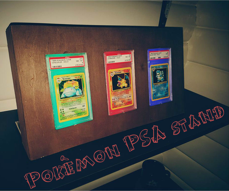 DIY Pokémon PSA card stand with light from Arduino