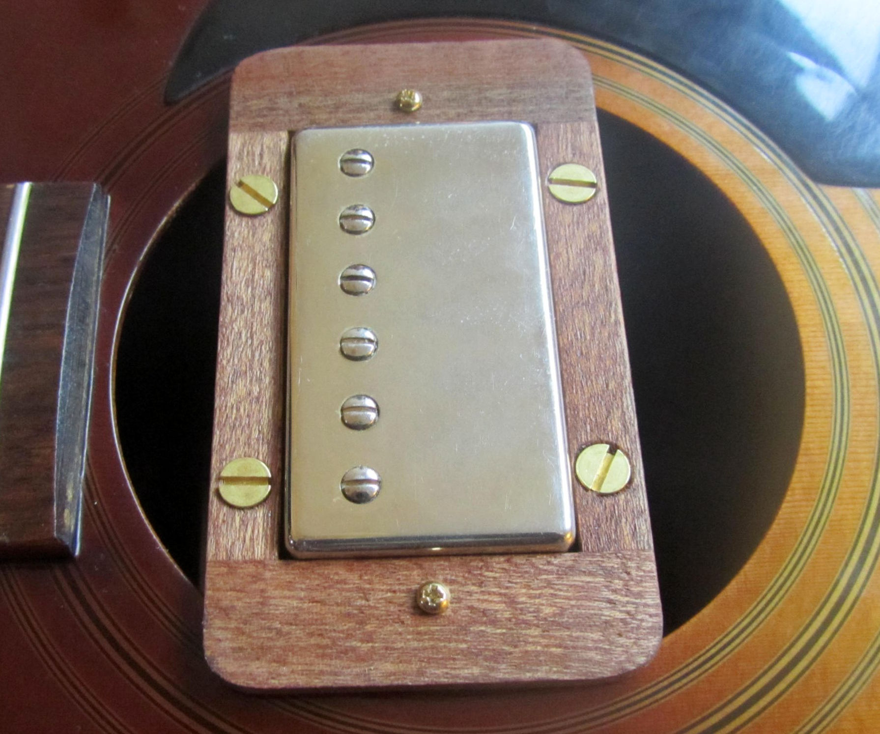 Electrifying your acoustic guitar on the cheap