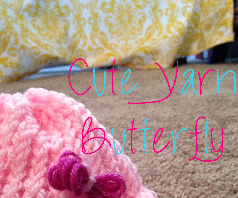 Cute yarn butterfly