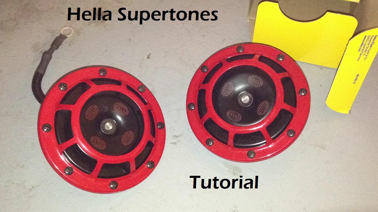 Tutorial: Installing Hella Supertones on a 2006 Subaru WRX STi