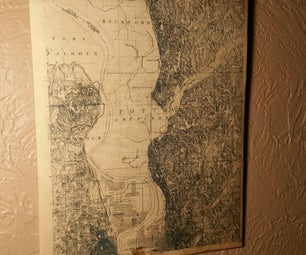 Vintage Topographic Wall Art