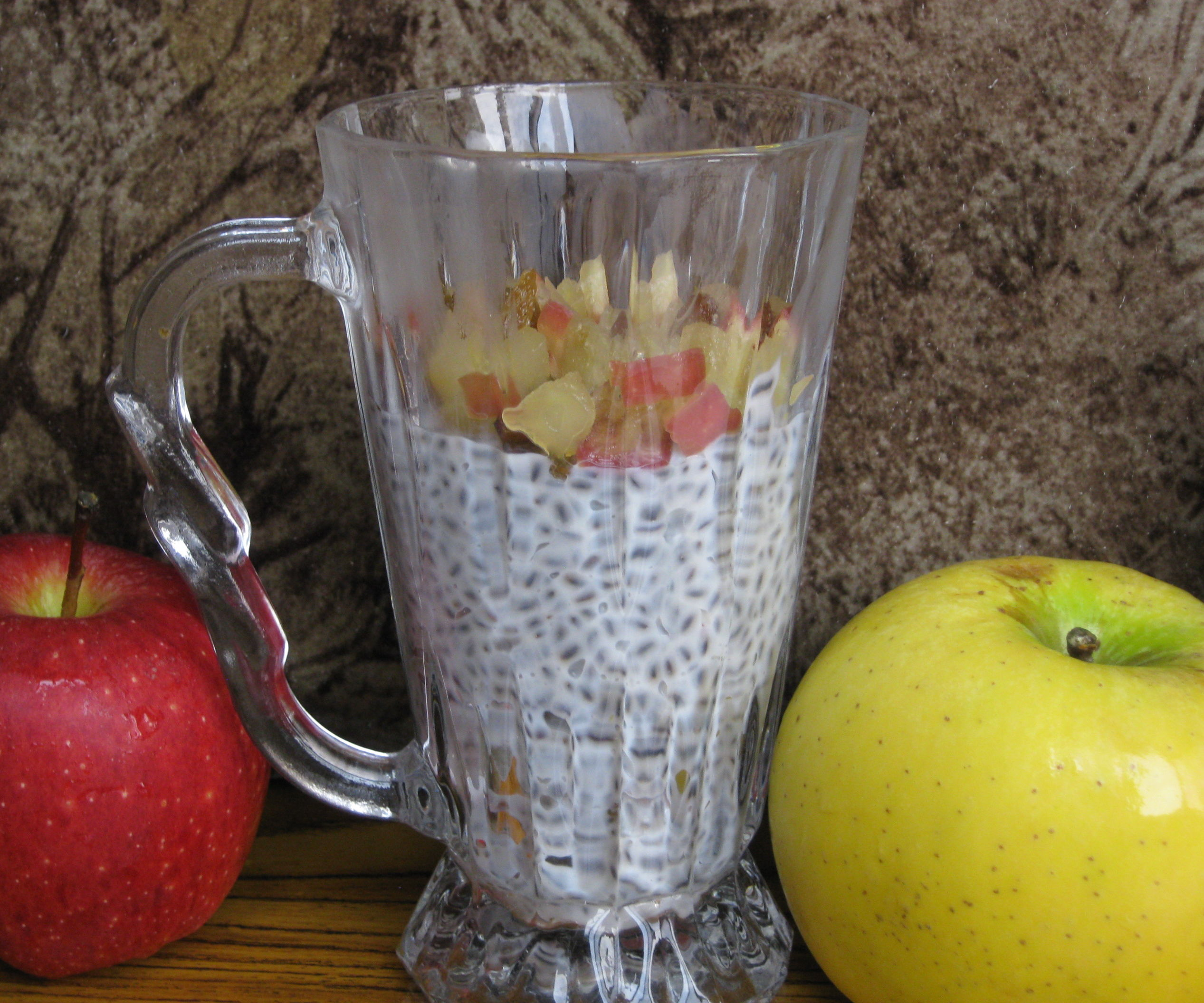Baked Honey Apple Chia Pudding