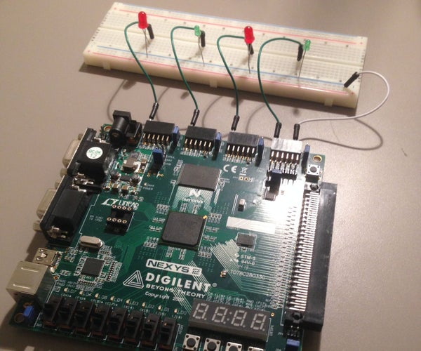 VHDL Game: LED - Button Push Game Instructable