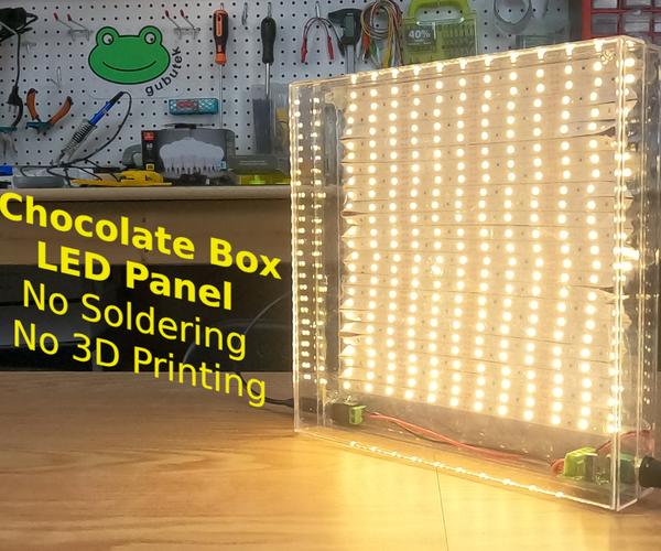 Chocolate Box LED Panel (no Soldering, No 3D Printing)