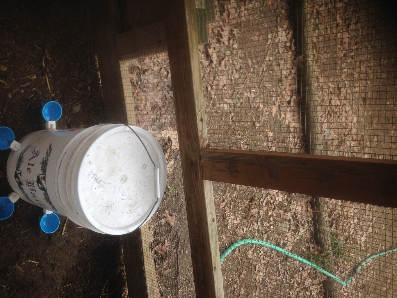 Super Simple Chicken Waterer - Step #2 - Install the Hook