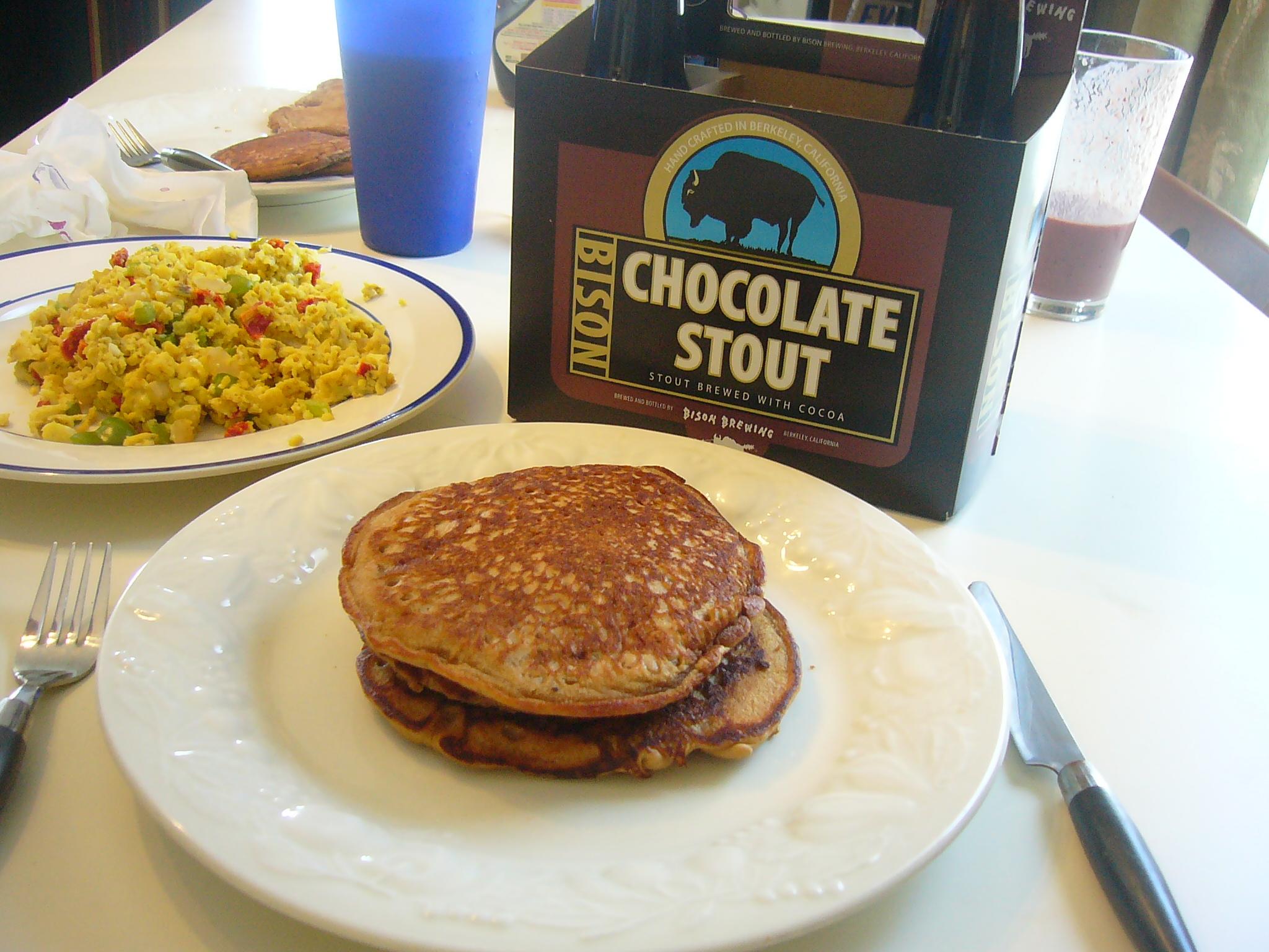 Bison Chocolate Stout Beer Pancakes