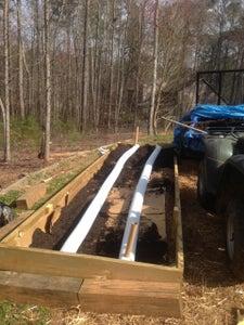 Raised Garden With Seep Irrigation System