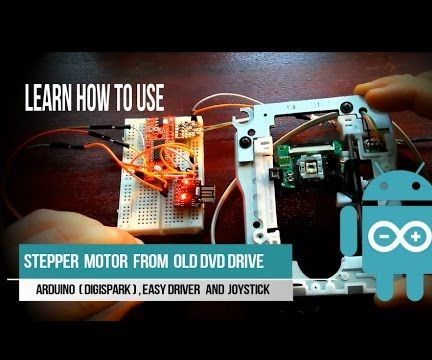Control stepper motor from DVD/ CD drive with joystick