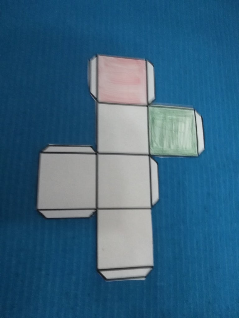 Cutting and Coloring the Templates