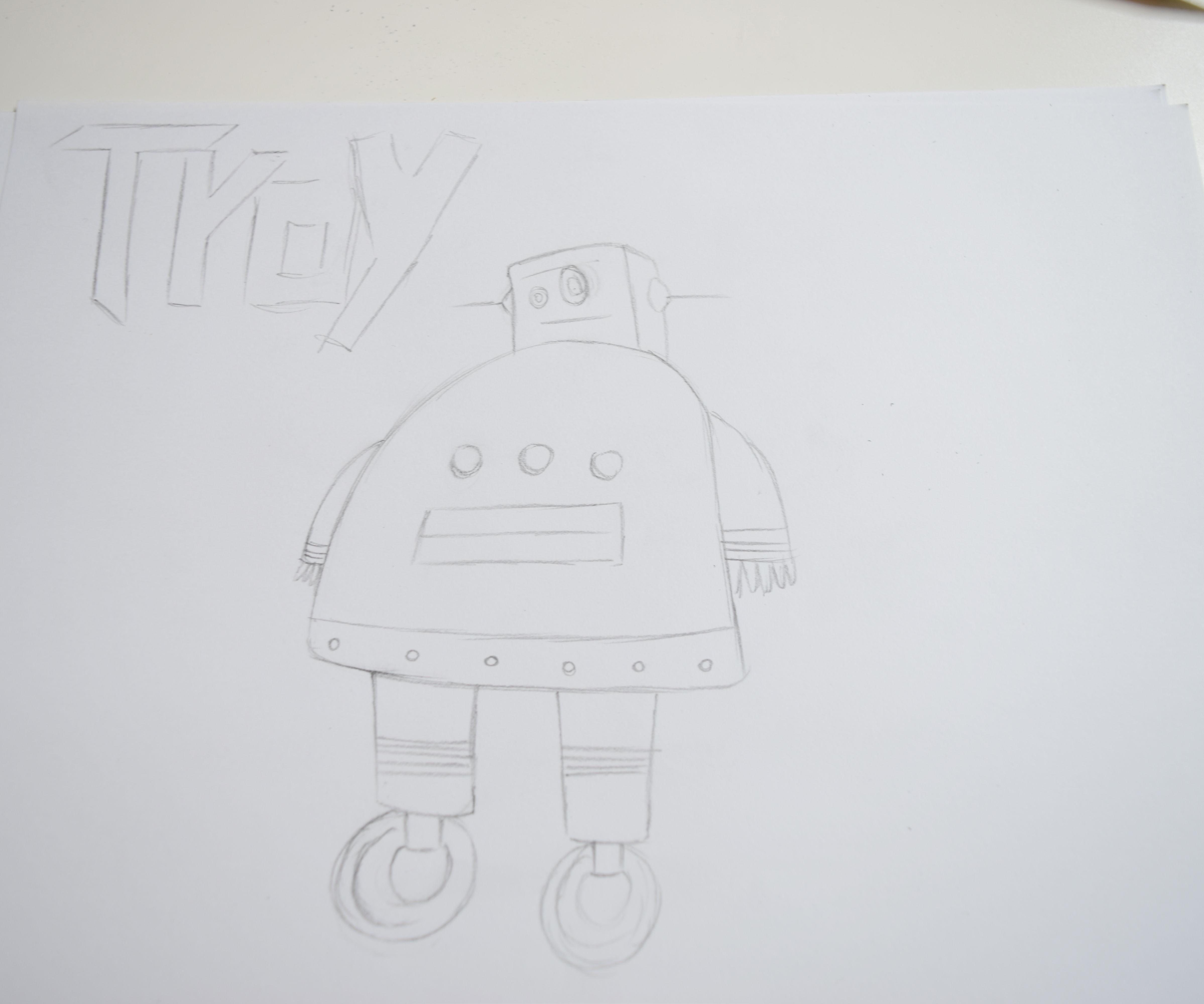 Como dibujar a troy