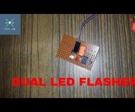 DUAL LED BLINKER USING 555 TIMER IC