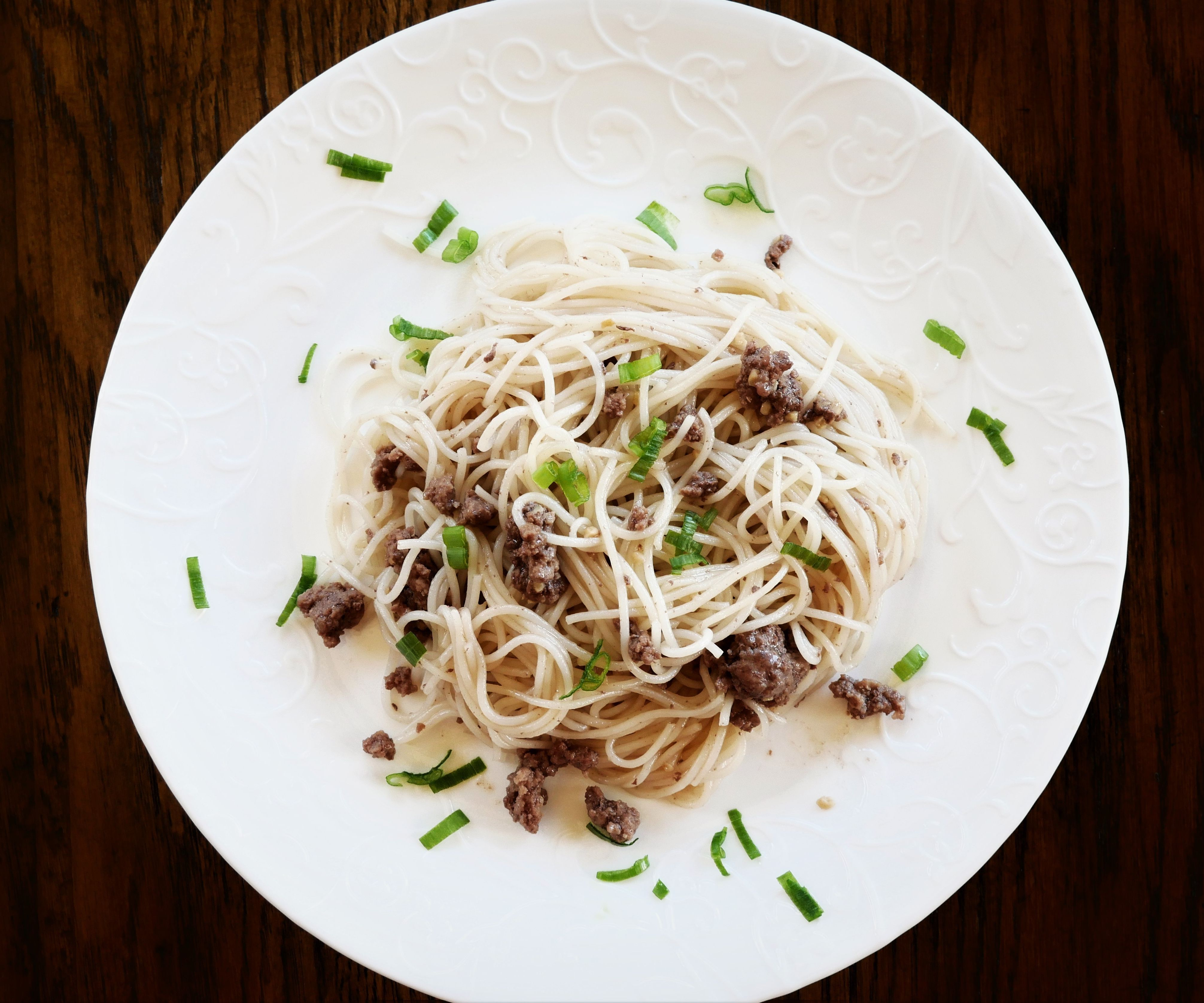 Asian Noodle Beef Dish