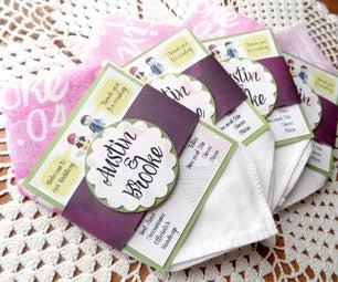 Handkerchief Wedding Program