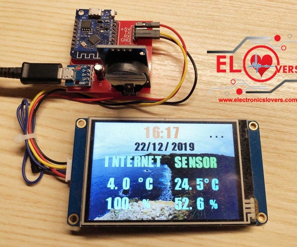 DIY Wireless Based Weather Station Project by Using Nextion LCD