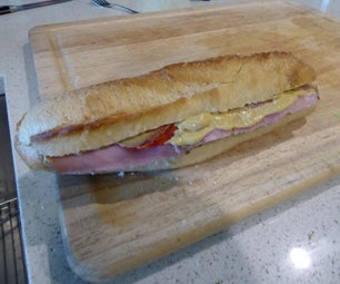 Ham and Provolone Baguette