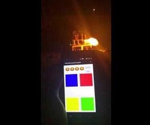 Android Bluetooth Flamethrower Pumpkin X4 Simon Says