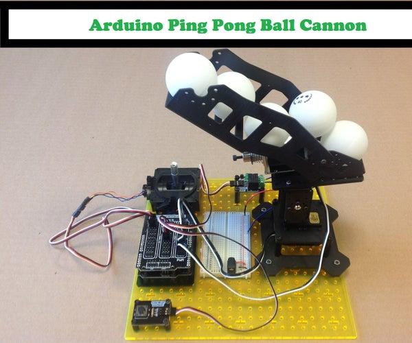 Arduino Ping Pong Ball Cannon