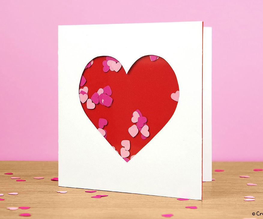 Heart shaker card tutorial