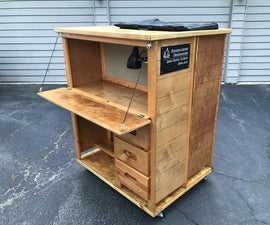 Mobile Observatory (upcycled Bunk Bed)