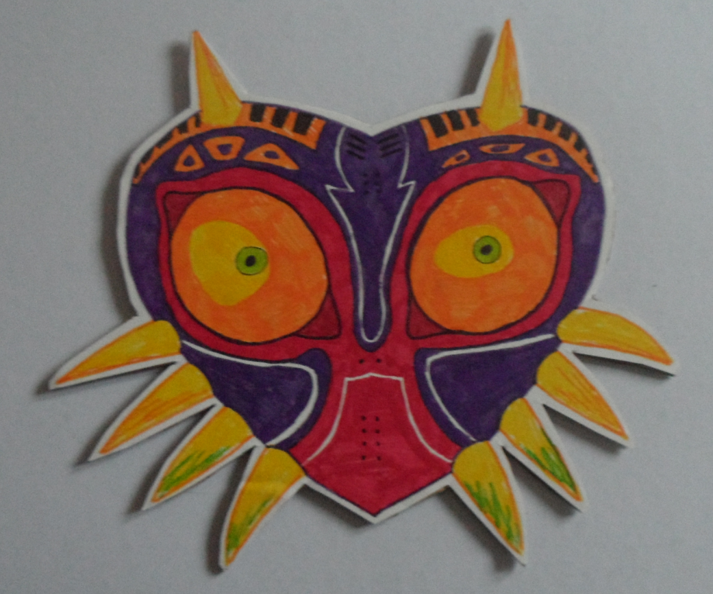 Drawing Majora's Mask