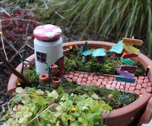 Broken Clay Pot Fairy Garden