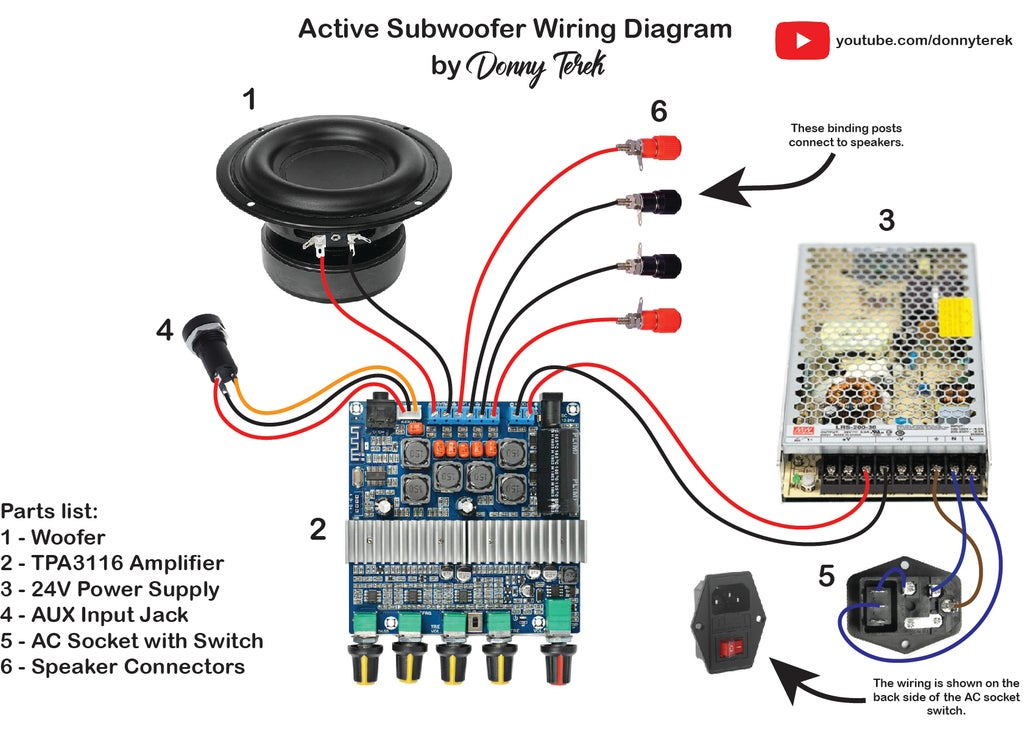 diy active subwoofer  15 steps with pictures  instructables