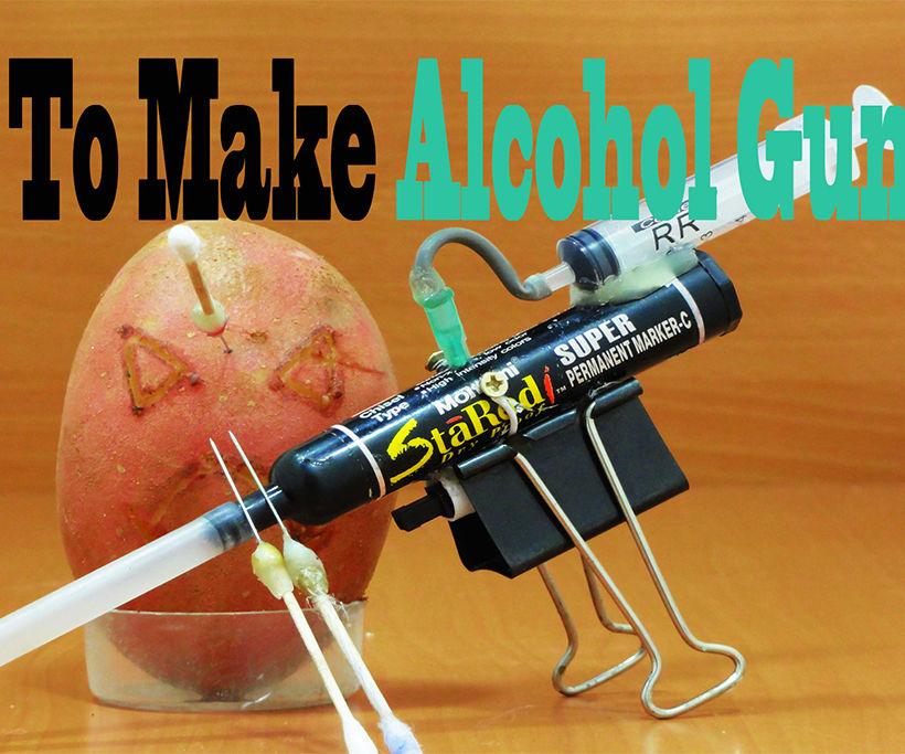 How to Make Alcohol Gun POCKET Life Hacks .