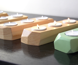 现代几何蜡烛持有人