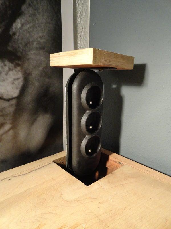 DIY Build-in Desk Sockets