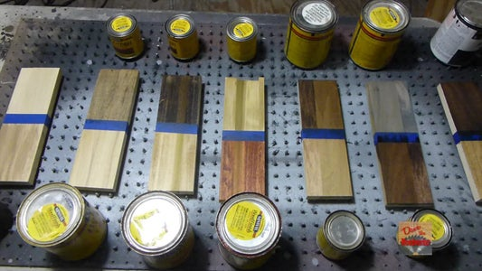 The Effects of Different Stains on Poplar Wood