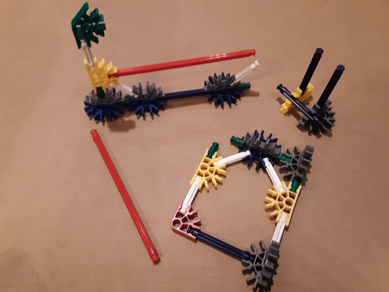 Build 3 K'nex Subassemblies