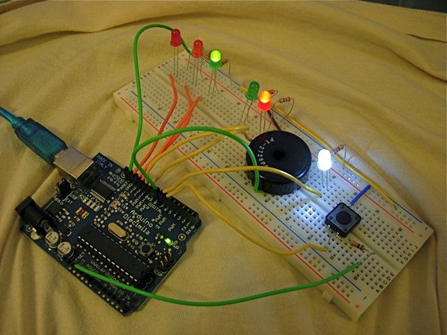 Arduino: Making a set of traffic lights