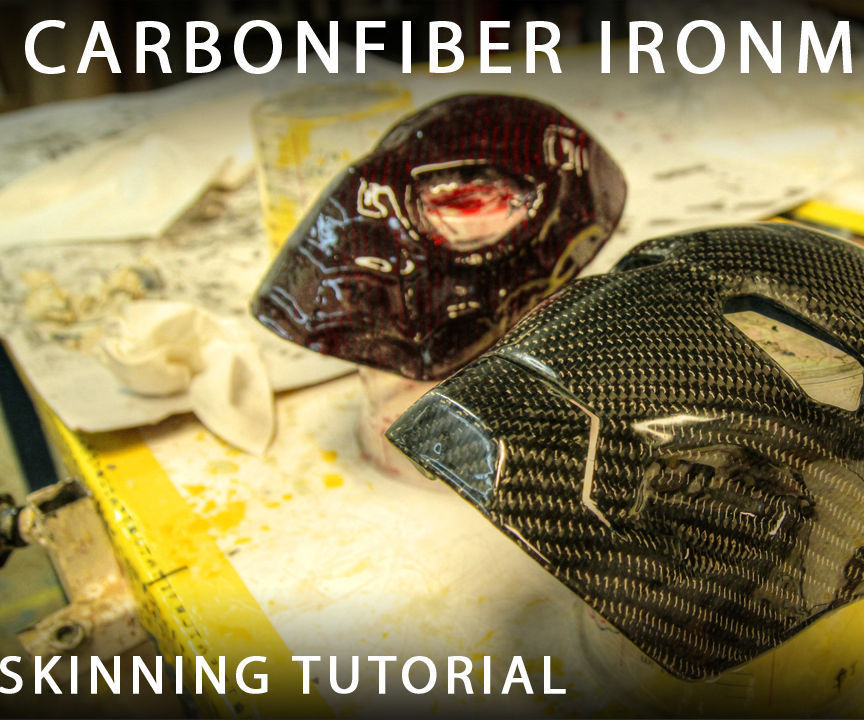 Carbonfiber Ironman & Spiderman mask (skinning/wrapping)