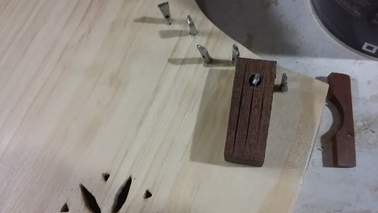 Work Out Where the Holes Should Be and Drive Your Zither Pins In