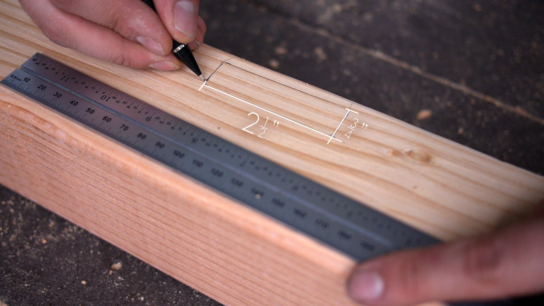 Mortise the 4x4's