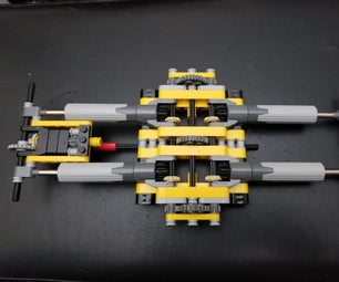 Lego Technic Back to Back Double Actuator Build